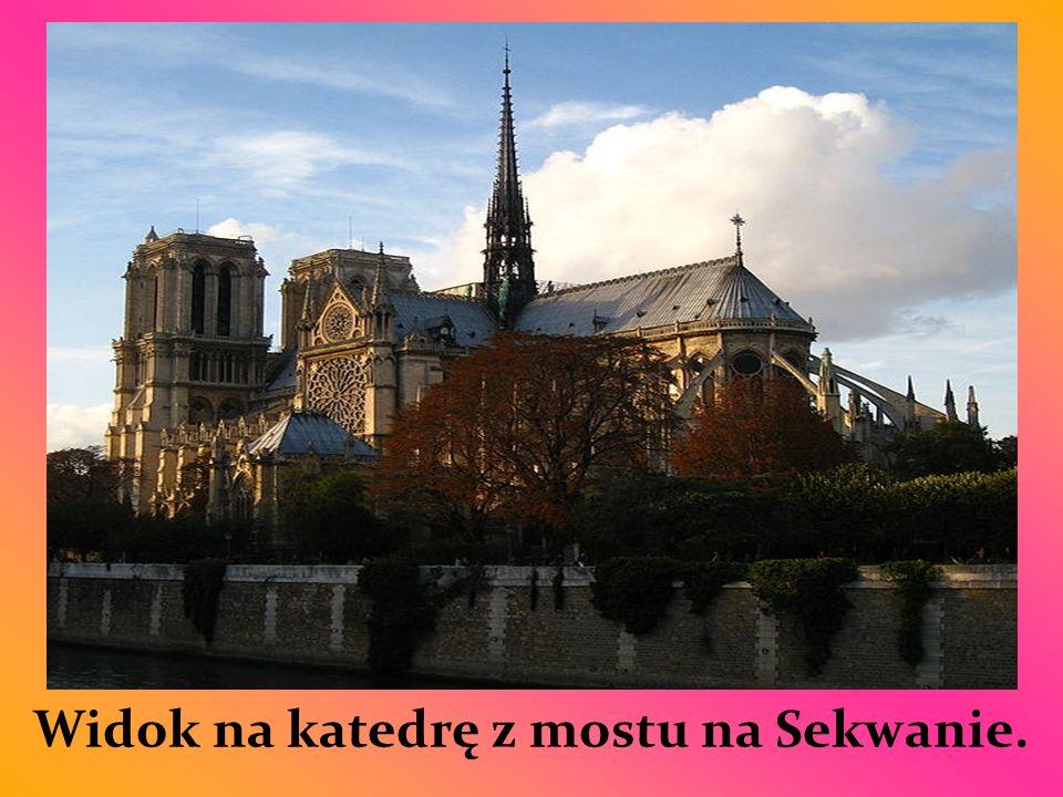 Widok na katedrę z mostu na Sekwanie.