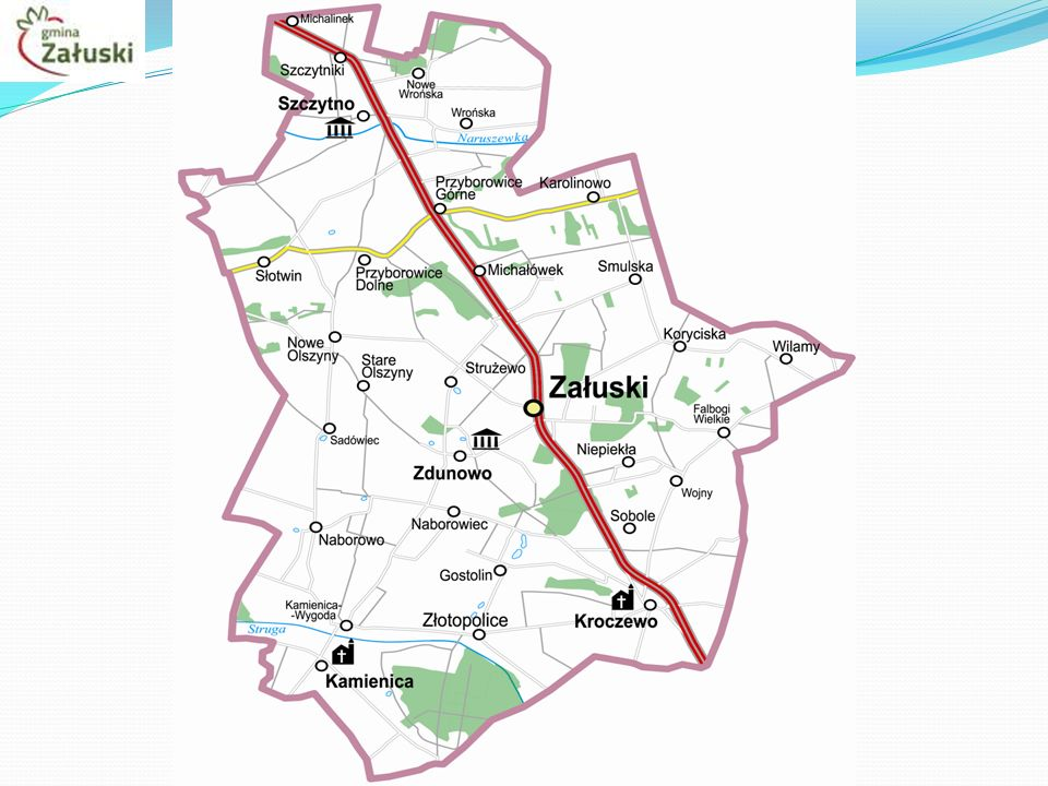 Wodociąg Gmina Załuski posiada ponad 200 km sieci wodociągowej doprowadzającej wodę do 1 800 gospodarstw domowych w 30 sołectwach.