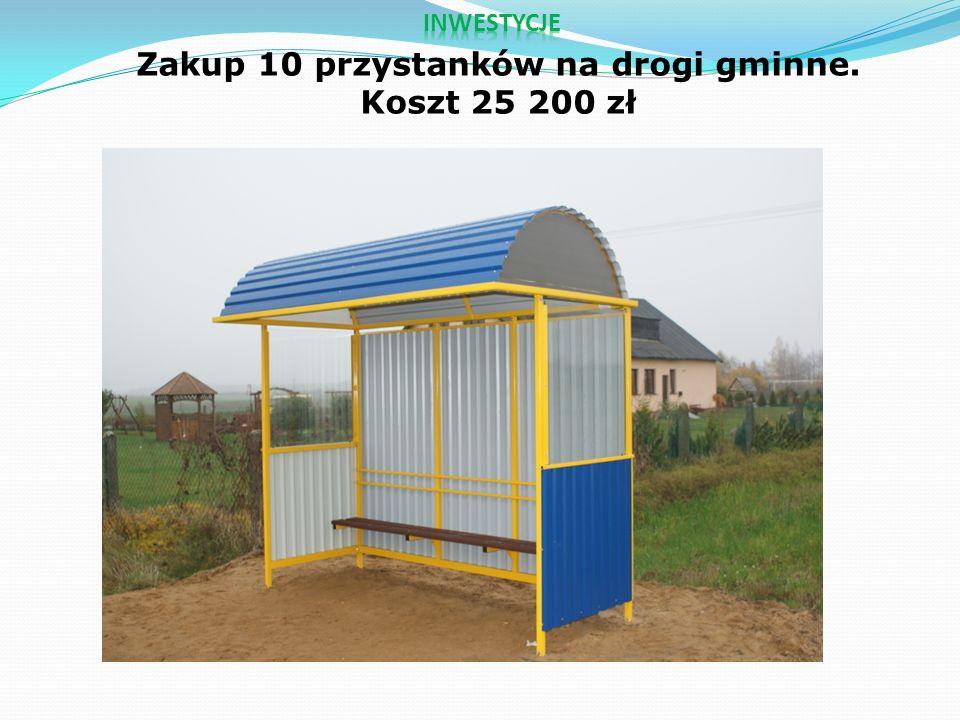 Zakup 10 przystanków na drogi gminne. Koszt 25 200 zł