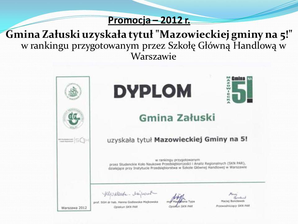 Promocja – 2012 r.