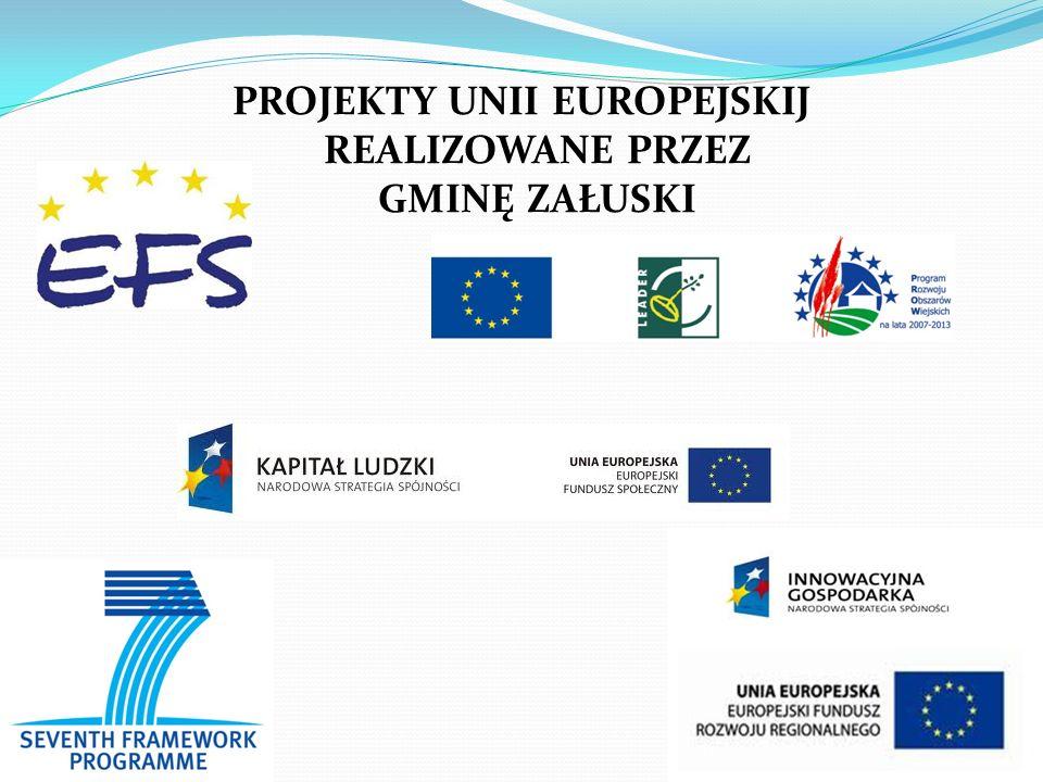 PROJEKTY UNII EUROPEJSKIJ REALIZOWANE PRZEZ GMINĘ ZAŁUSKI