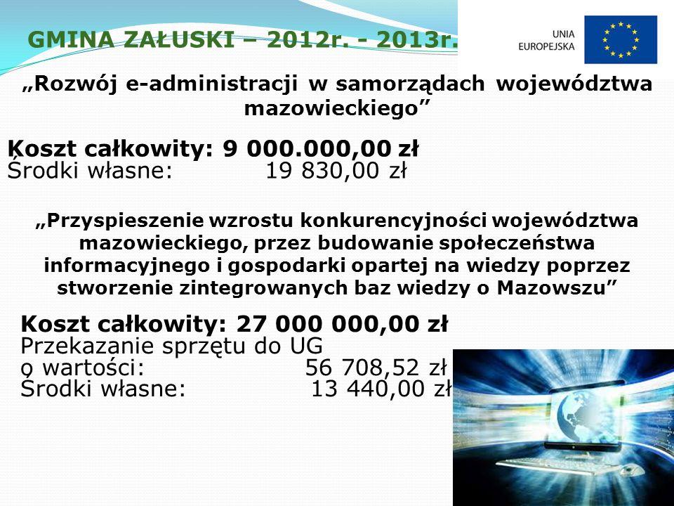 GMINA ZAŁUSKI – 2012r. - 2013r.