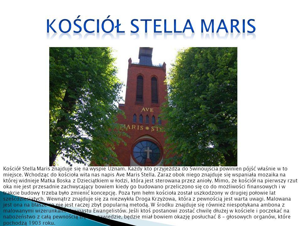 Kościół Stella Maris znajduje się na wyspie Uznam.
