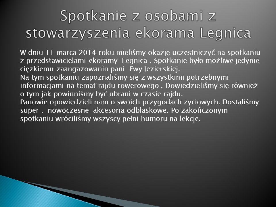 W dniu 11 marca 2014 roku mieliśmy okazję uczestniczyć na spotkaniu z przedstawicielami ekoramy Legnica. Spotkanie było możliwe jedynie ciężkiemu zaan