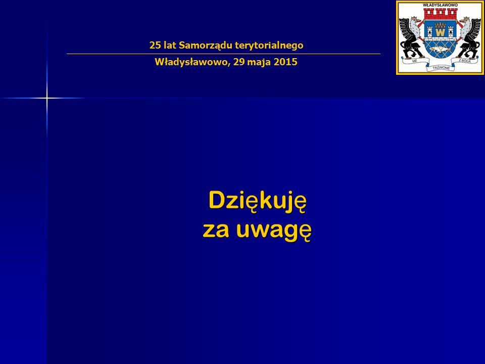 Dzi ę kuj ę za uwag ę 25 lat Samorządu terytorialnego Władysławowo, 29 maja 2015