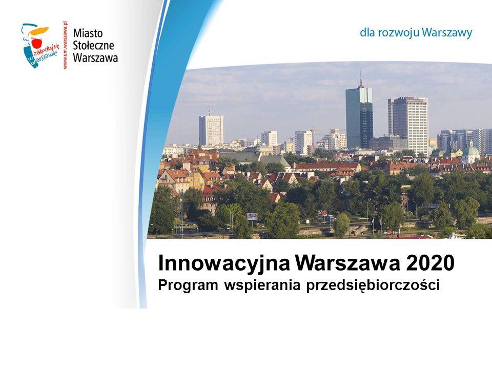 Innowacyjna Warszawa 2020 Program wspierania przedsiębiorczości