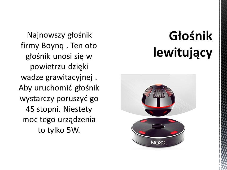 Najnowszy głośnik firmy Boynq. Ten oto głośnik unosi się w powietrzu dzięki wadze grawitacyjnej.