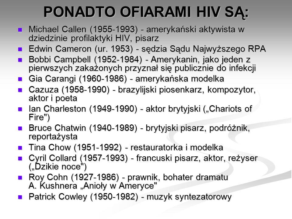 Michael Callen (1955-1993) - amerykański aktywista w dziedzinie profilaktyki HIV, pisarz Michael Callen (1955-1993) - amerykański aktywista w dziedzinie profilaktyki HIV, pisarz Edwin Cameron (ur.