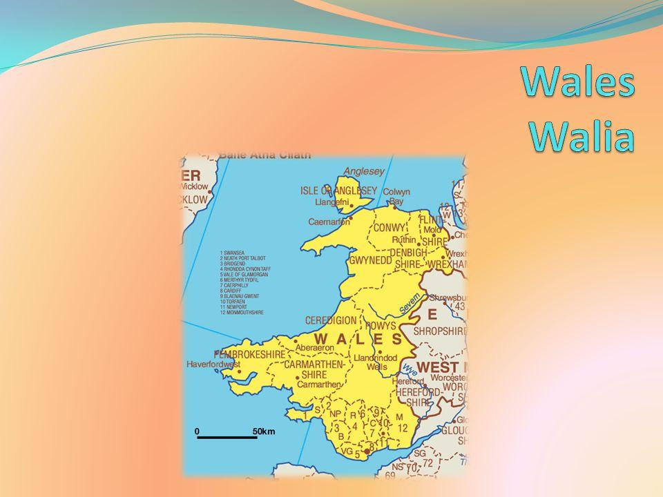 Geografia Walia leży nad Morzem Irlandzkim w południowo-zachodniej części wyspy Wielka Brytania.