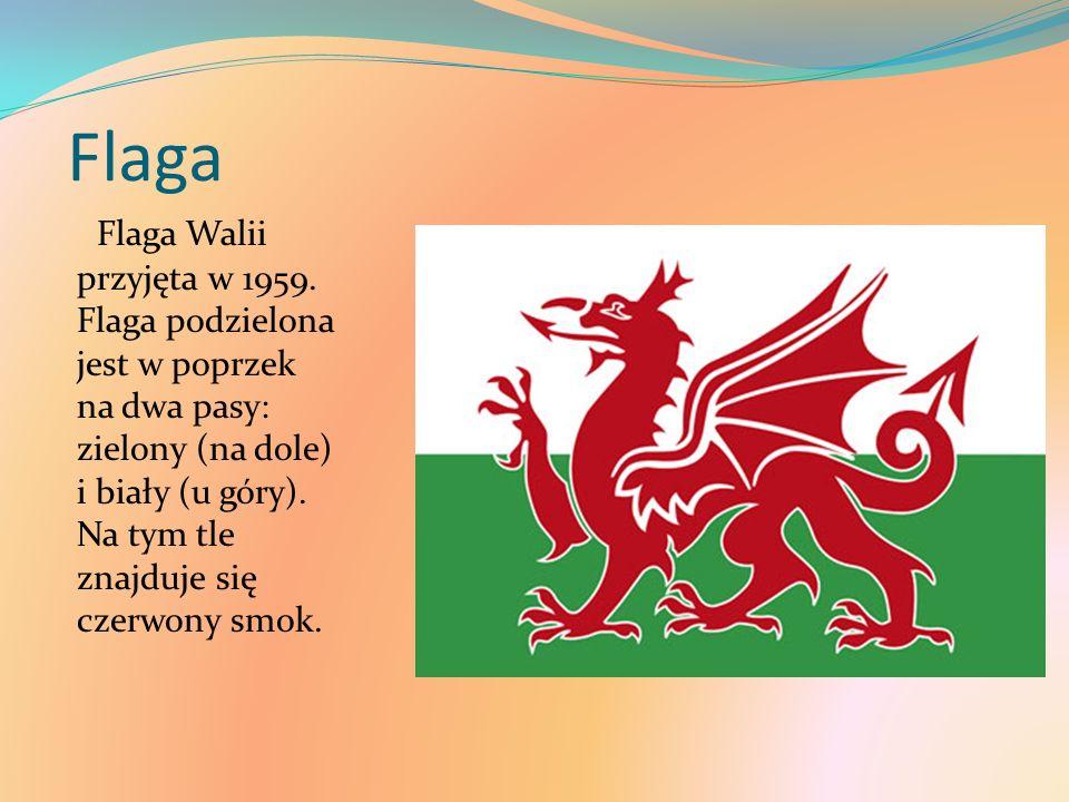 Flaga Flaga Walii przyjęta w 1959.