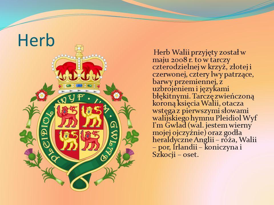 Herb Herb Walii przyjęty został w maju 2008 r.