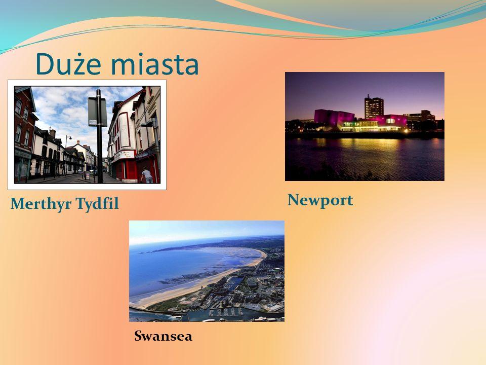 Duże miasta Merthyr Tydfil Newport Swansea