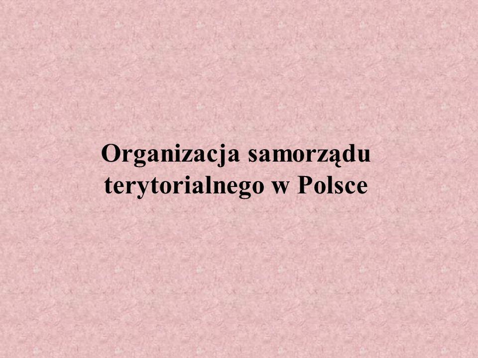 Organizacja samorządu terytorialnego w Polsce