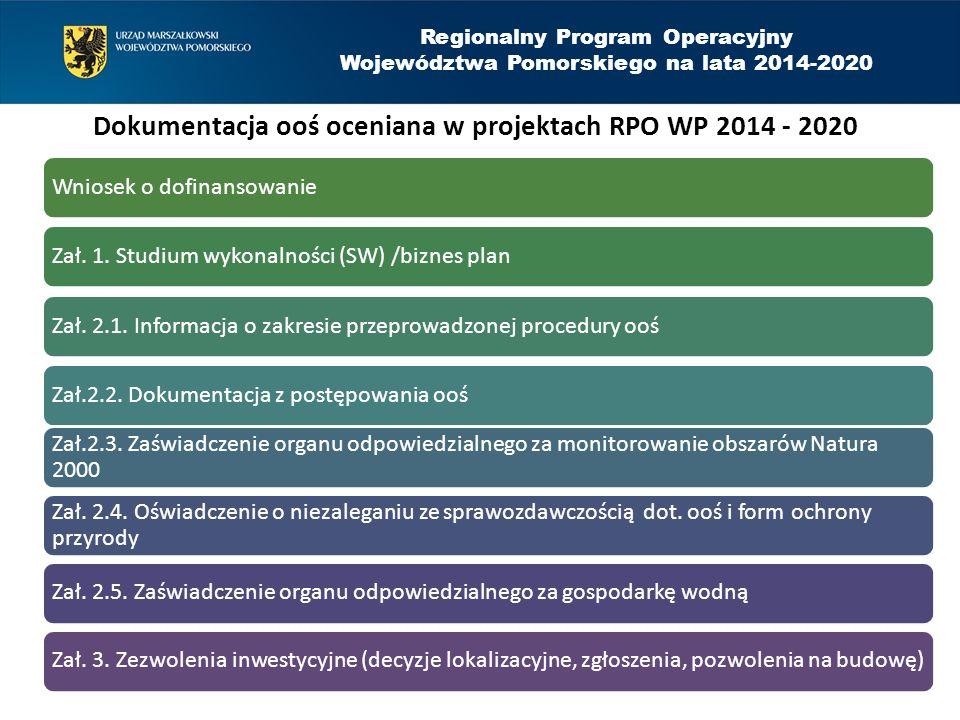 Regionalny Program Operacyjny Województwa Pomorskiego na lata 2014-2020 O czym należy pamiętać przy procedurach ooś (4).