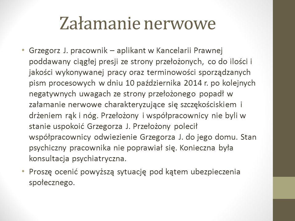 Załamanie nerwowe Grzegorz J.