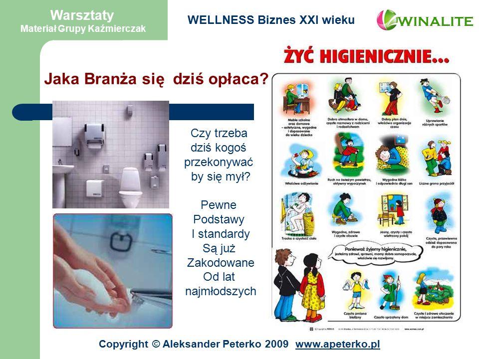 Warsztaty Materiał Grupy Kaźmierczak WINALITE WELLNESS Biznes XXI wieku Jaka Branża się dziś opłaca.