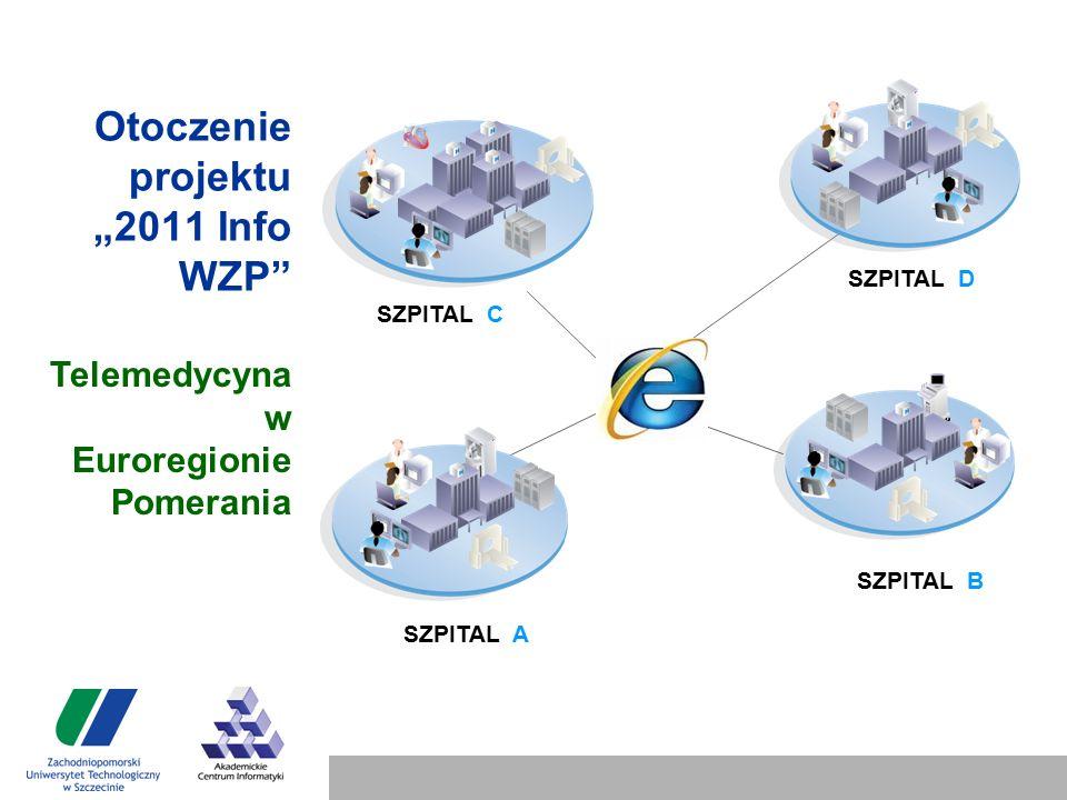 """Otoczenie projektu """"2011 Info WZP SZPITAL A SZPITAL B SZPITAL D SZPITAL C Telemedycyna w Euroregionie Pomerania"""