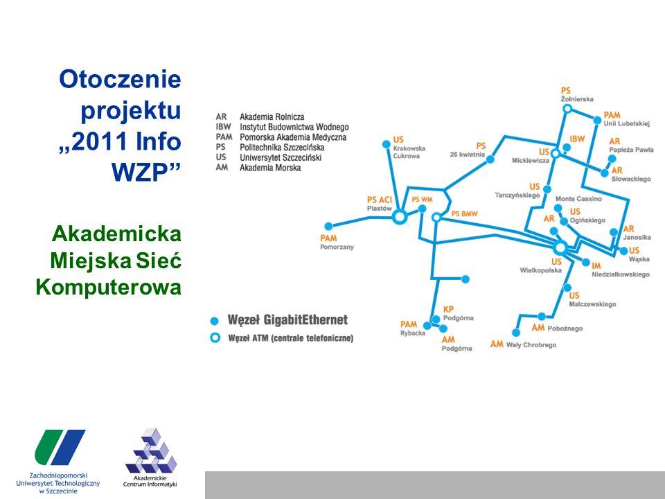 """Otoczenie projektu """"2011 Info WZP Akademicka Miejska Sieć Komputerowa"""