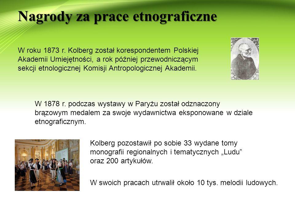 Schyłek życia i śmierć O.Kolberga Grób Kolberga na Cmentarzu Rakowickim Rok przed śmiercią O.