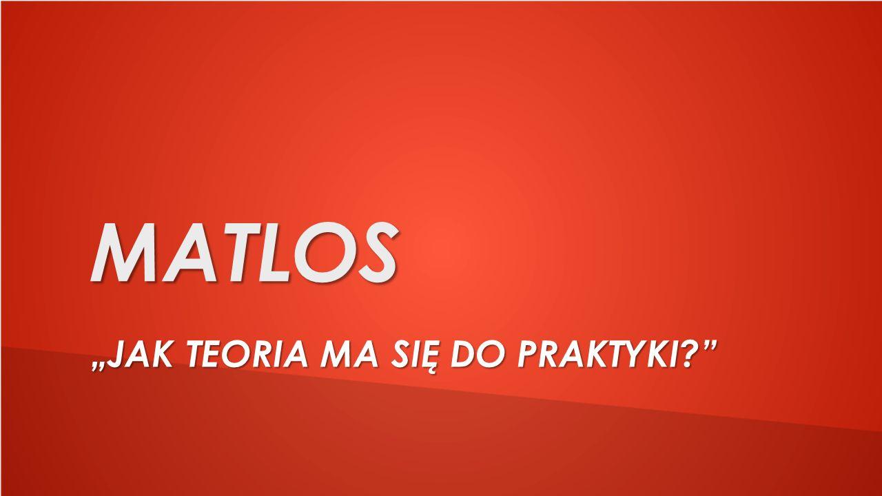 """MATLOS """"JAK TEORIA MA SIĘ DO PRAKTYKI"""