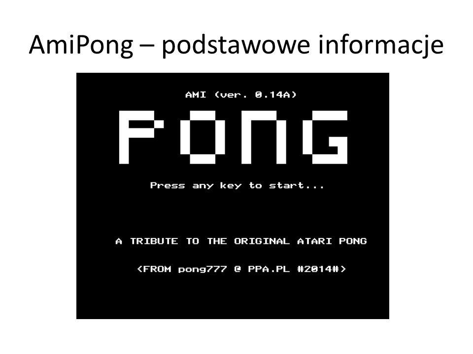 AmiPong – podstawowe informacje