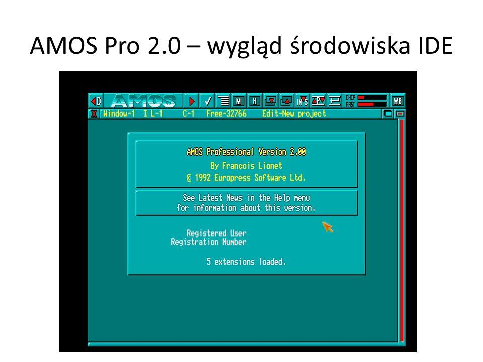AMOS Pro 2.0 – wygląd środowiska IDE