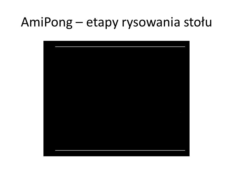 AmiPong – etapy rysowania stołu