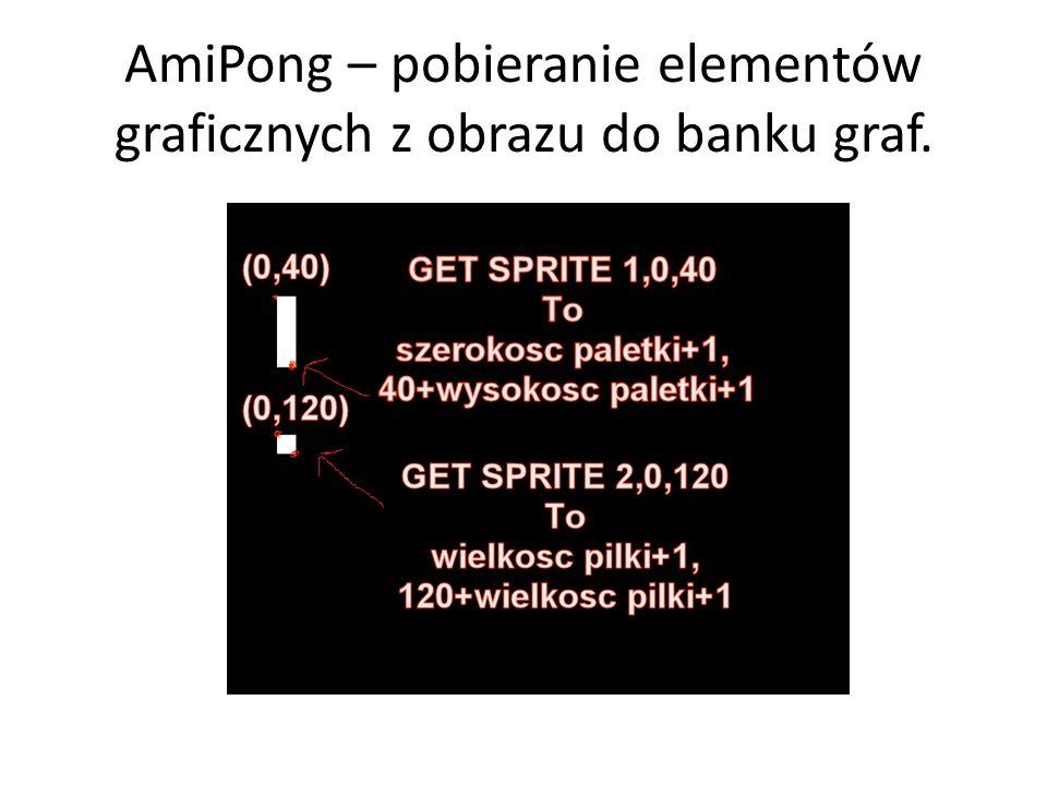 AmiPong – pobieranie elementów graficznych z obrazu do banku graf.