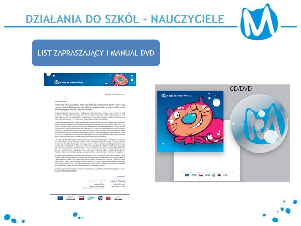 LIST ZAPRASZAJĄCY I MANUAL DVD