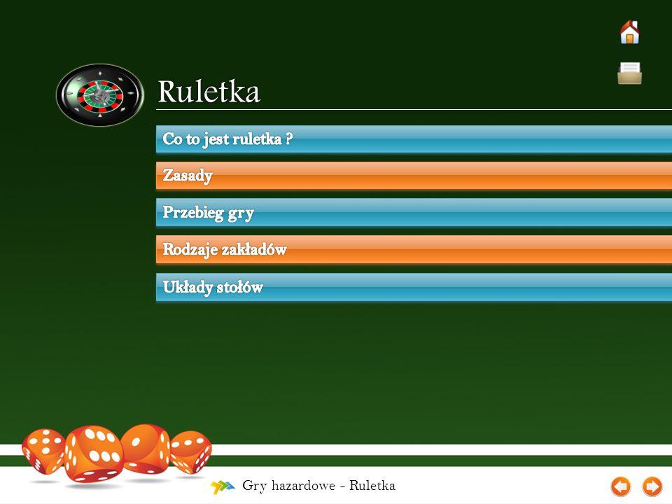 Gry hazardowe - Ruletka