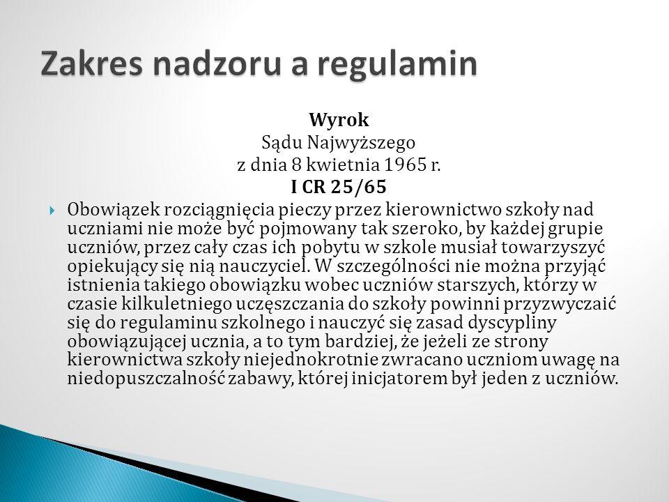 Wyrok Sądu Najwyższego z dnia 8 kwietnia 1965 r.