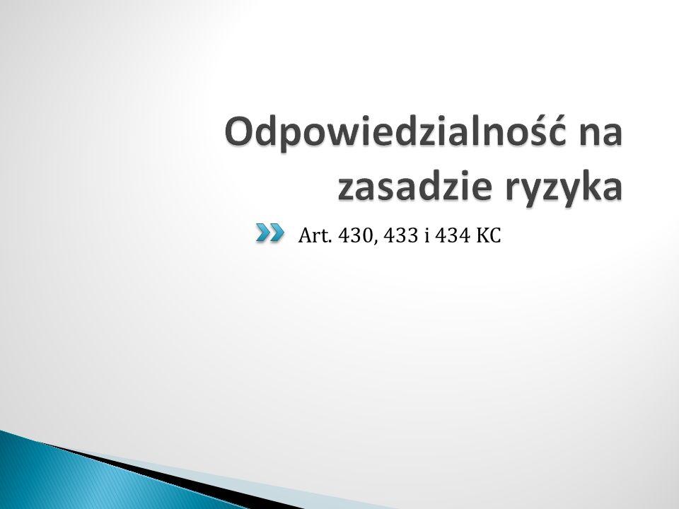Art. 430, 433 i 434 KC