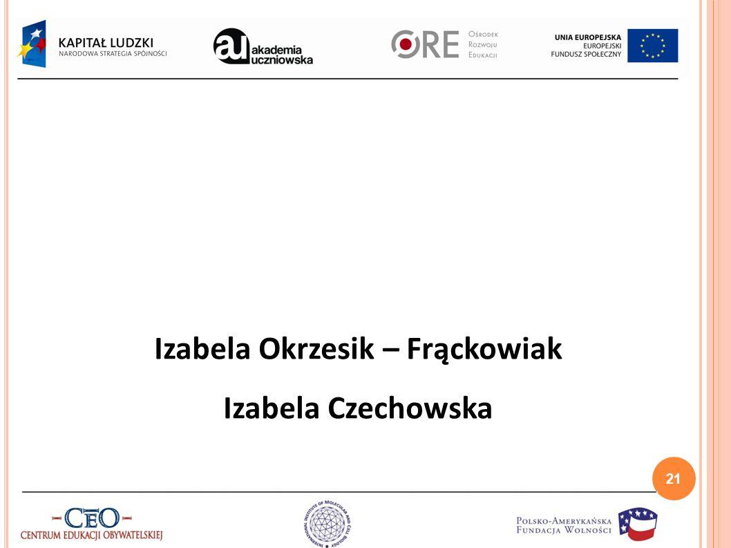 Izabela Okrzesik – Frąckowiak Izabela Czechowska 21