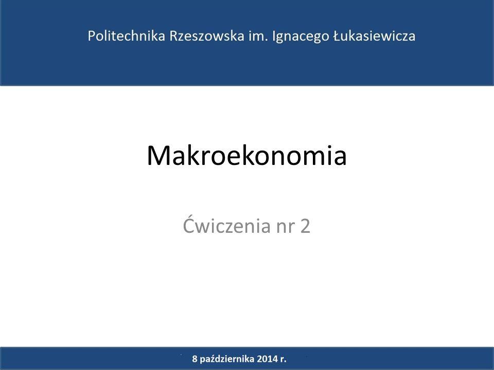 Makroekonomia Ćwiczenia nr 2