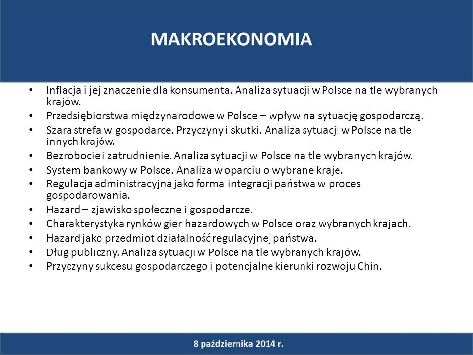 Inflacja i jej znaczenie dla konsumenta. Analiza sytuacji w Polsce na tle wybranych krajów.
