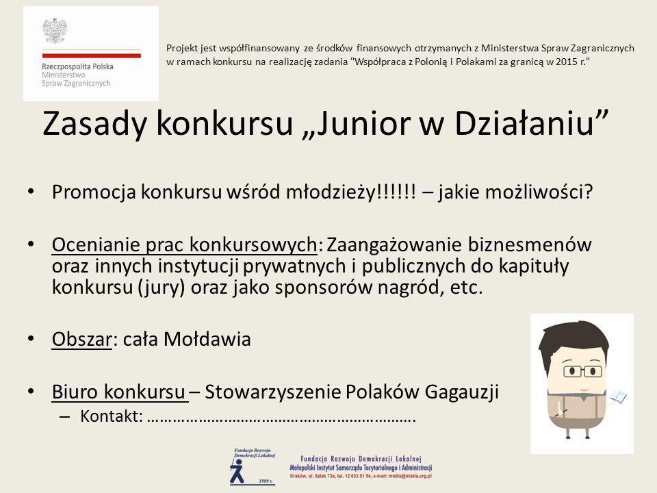 Promocja konkursu wśród młodzieży!!!!!. – jakie możliwości.