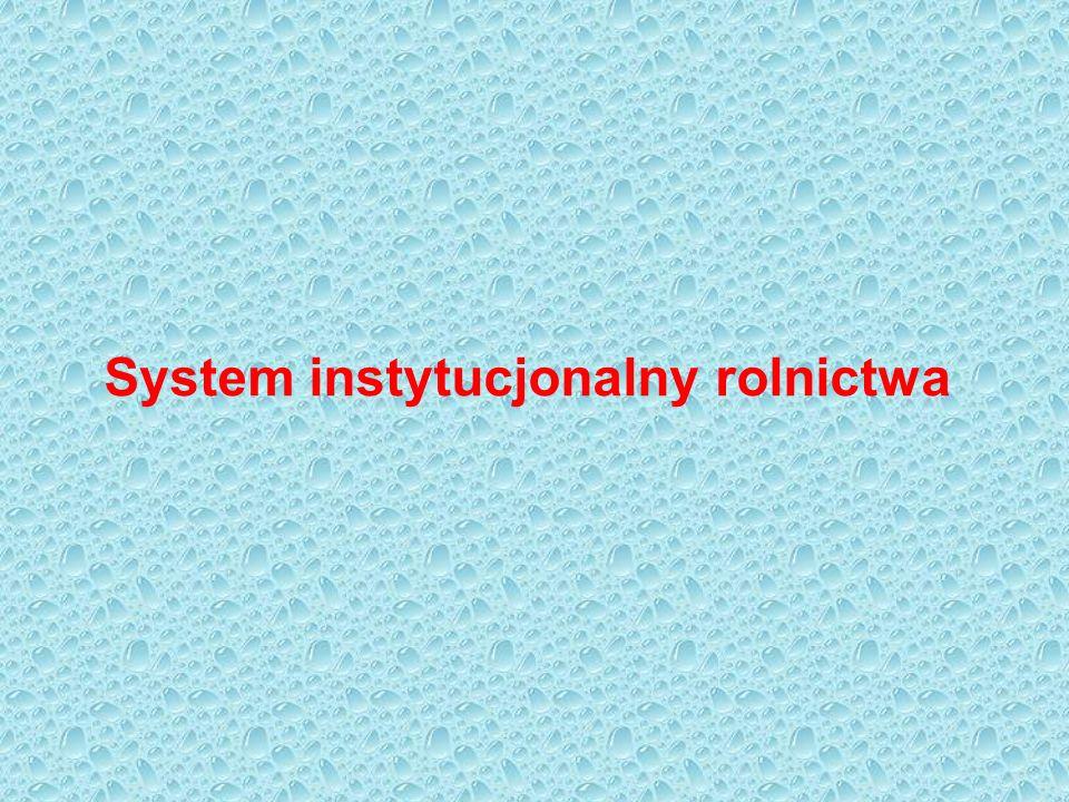 System instytucjonalny rolnictwa