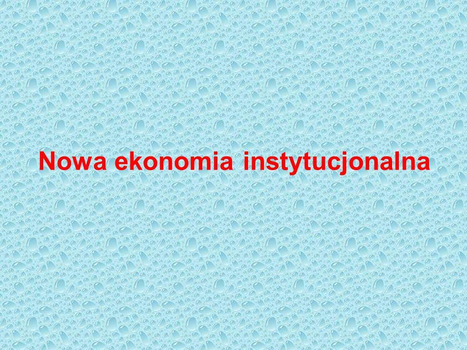 Początek nowej ekonomii instytucjonalnej to rok 1937.