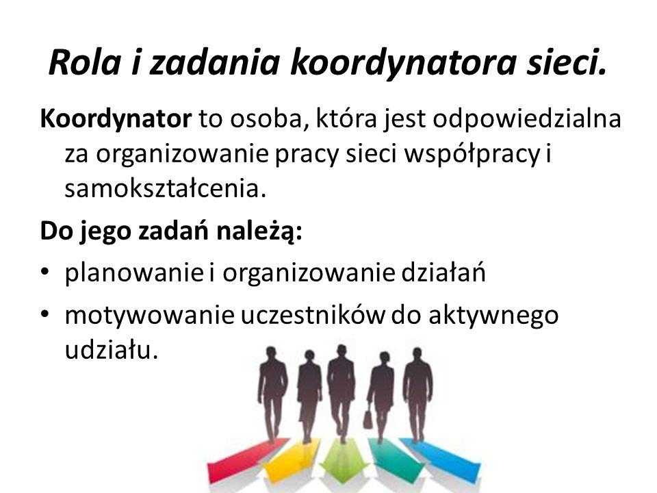 Rola i zadania koordynatora sieci.