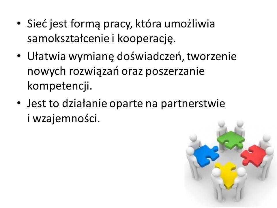 Sieć jest formą pracy, która umożliwia samokształcenie i kooperację.