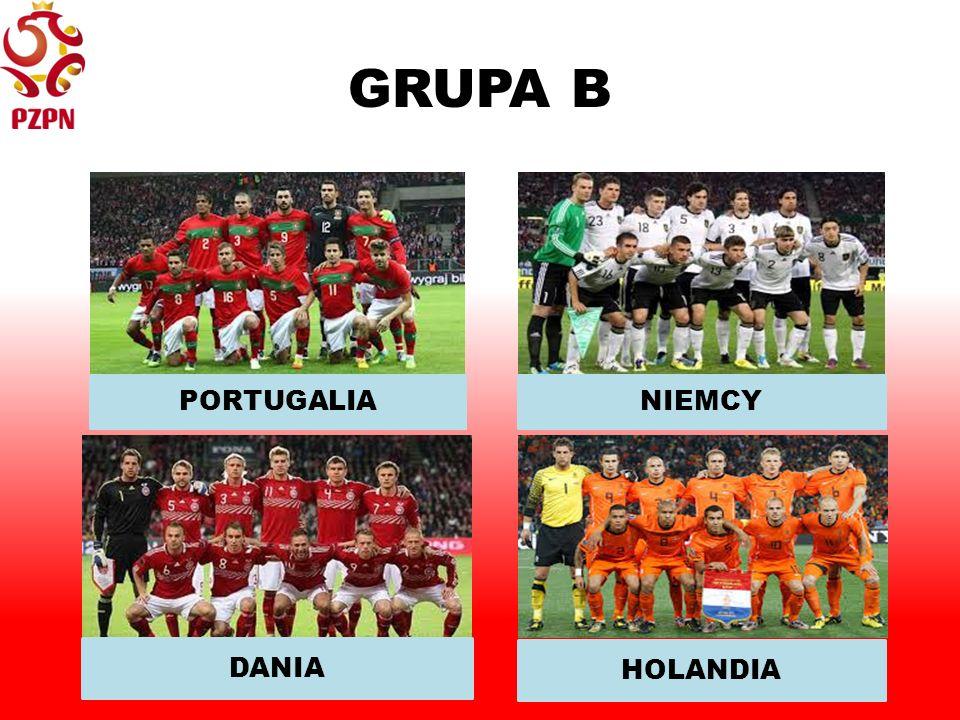 GRUPA B PORTUGALIANIEMCY DANIA HOLANDIA