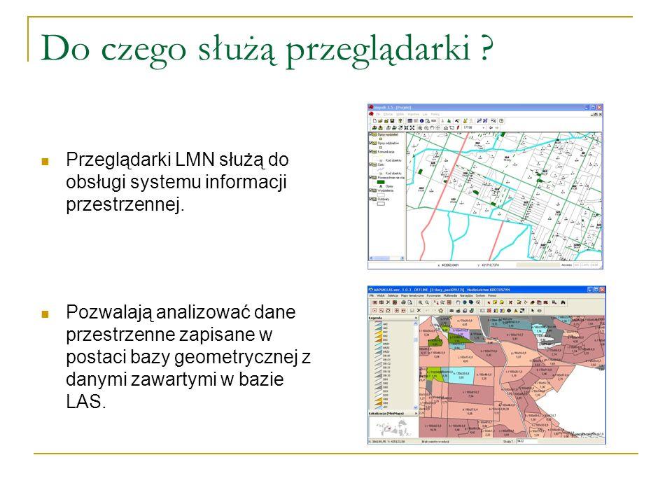 Do czego służą przeglądarki . Przeglądarki LMN służą do obsługi systemu informacji przestrzennej.