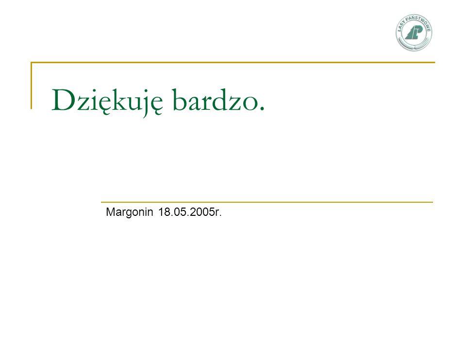 Dziękuję bardzo. Margonin 18.05.2005r.