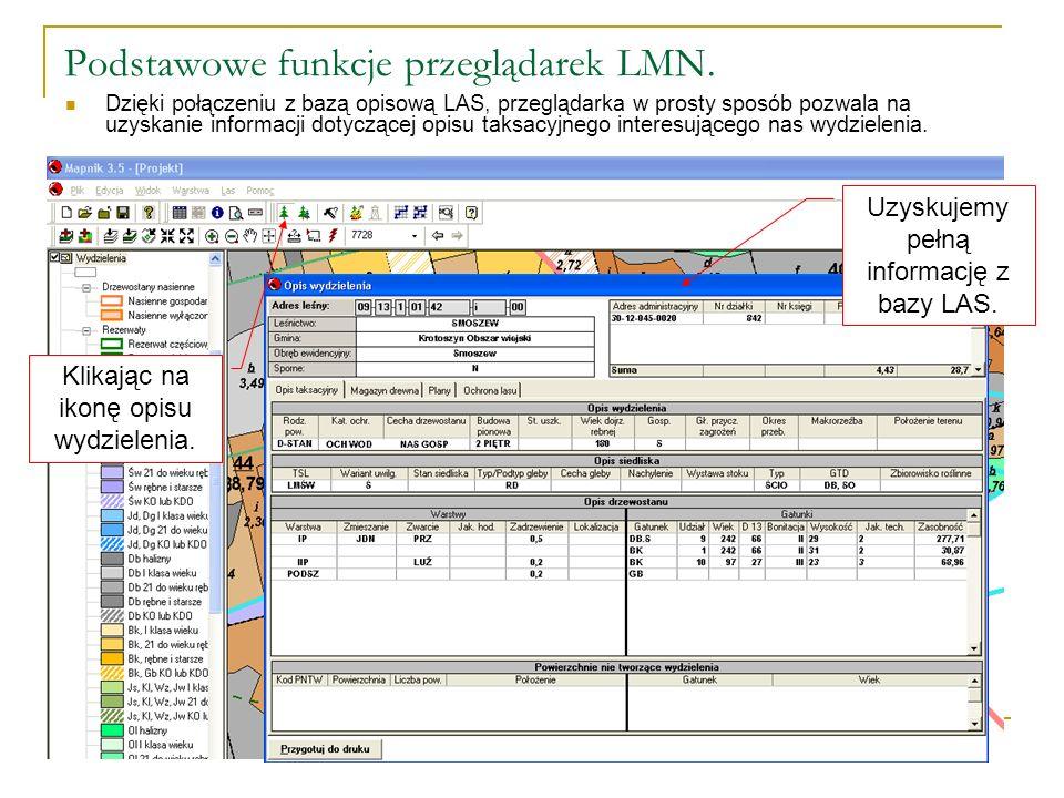 Podstawowe funkcje przeglądarek LMN.