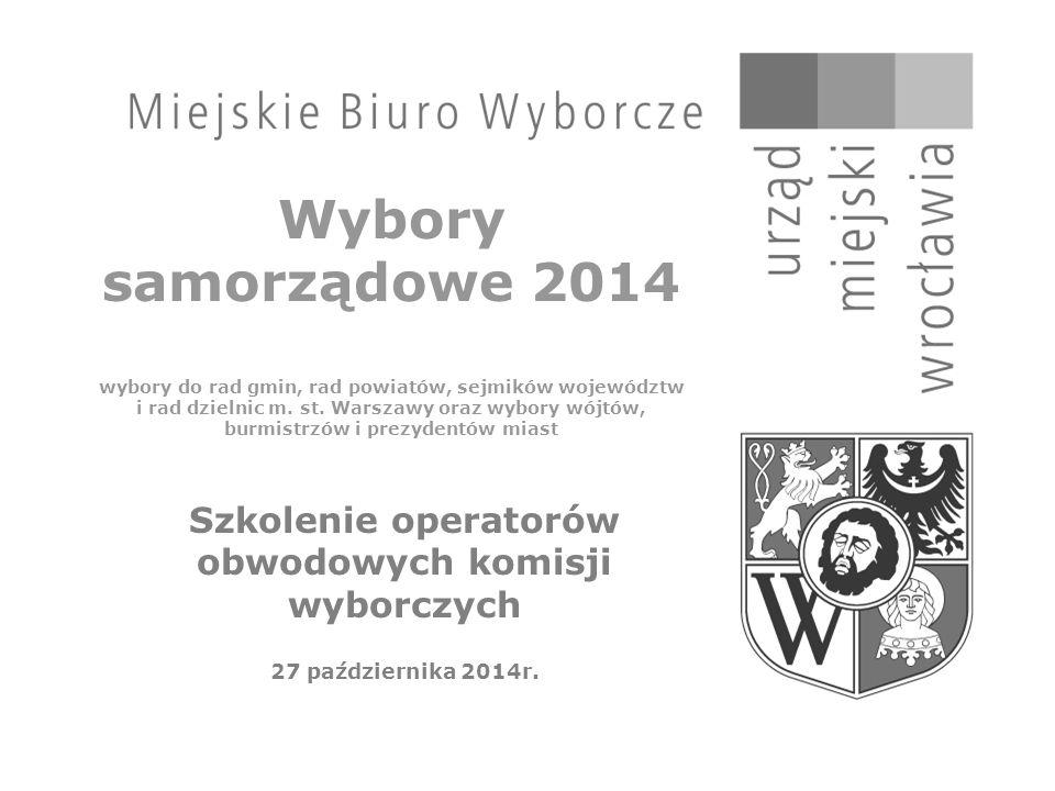Wybory samorządowe 2014 wybory do rad gmin, rad powiatów, sejmików województw i rad dzielnic m.