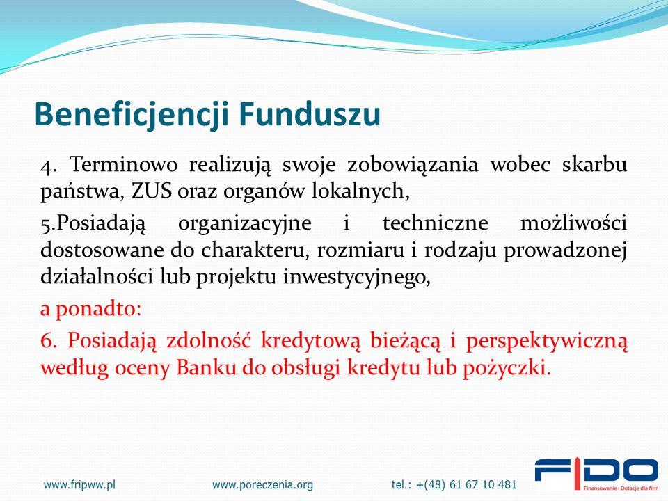 Beneficjencji Funduszu 4.