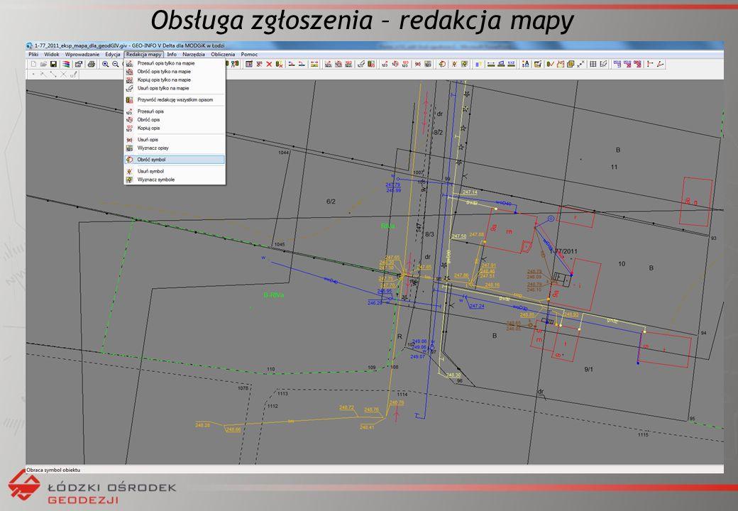 Obsługa zgłoszenia – redakcja mapy