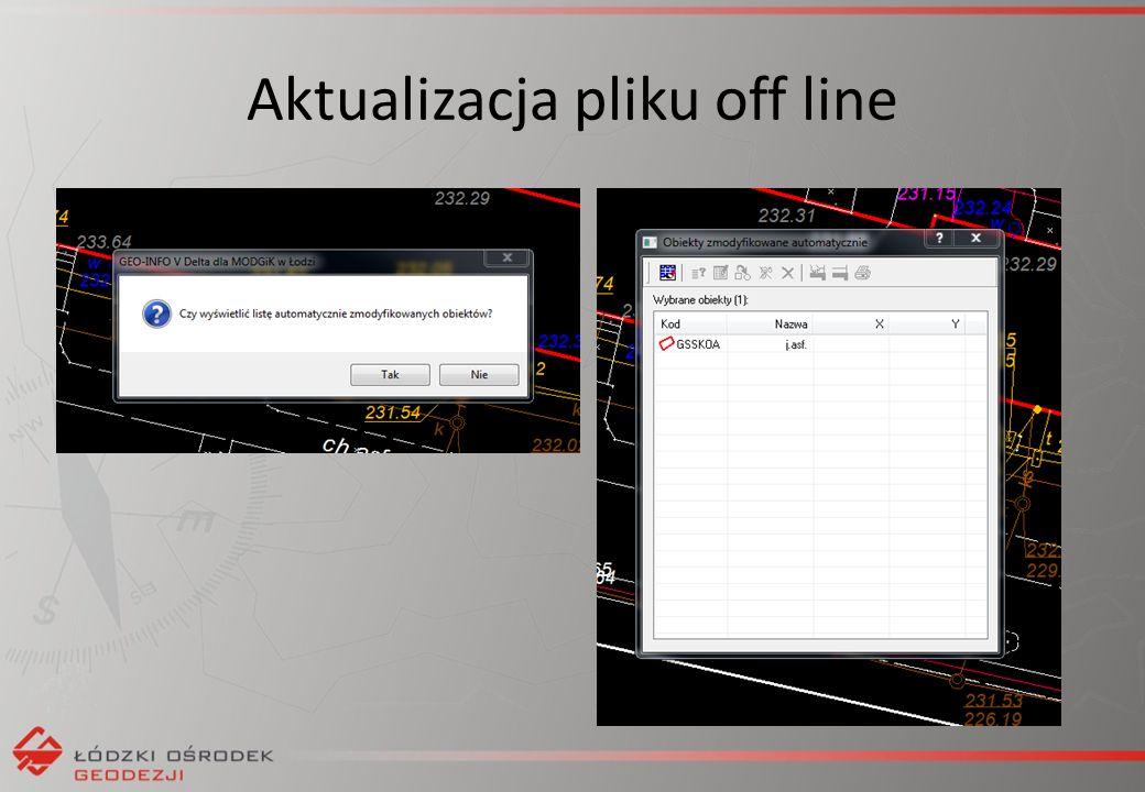 Aktualizacja pliku off line