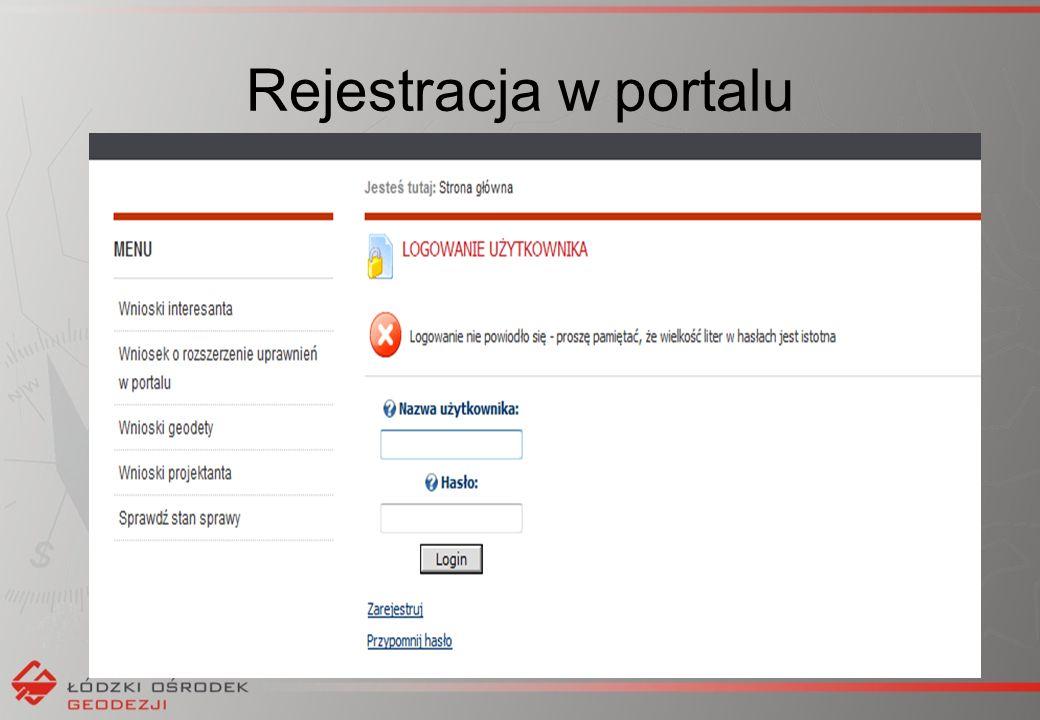 Rejestracja w portalu