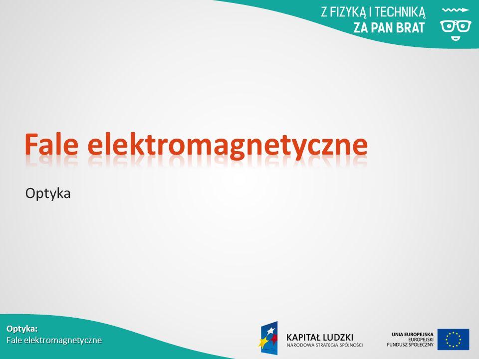 Optyka: Fale elektromagnetyczne Optyka